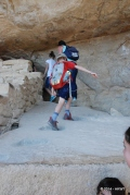 Then up the ancient stairs the Puebloans used