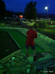 Our campground had putt-putt, so of course we needed to play a round.