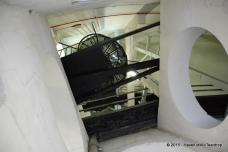 Inside the outer dome, and up the rickety steps to the top