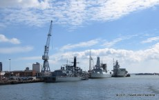 We got to see lots of Her Magesty's destroyers