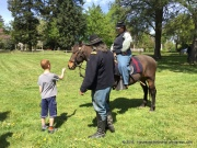 Folks were dressed in period wear and had the horses out