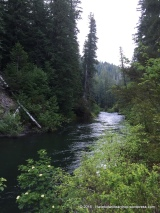 The Rogue River running through our campground