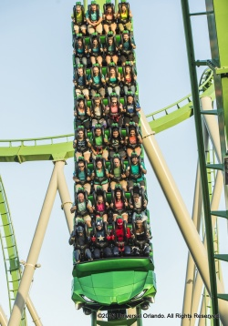 Today, the Marvel Super Heroes and a crowd of excited guests celebrated the official reopening of the thrilling, smash hit attraction, The Incredible Hulk Coaster at UniversalÕs Islands of Adventure.