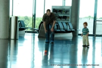 Playing ball in the Zurich airport