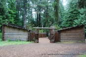 The replica of what Fort Clatsop looked like
