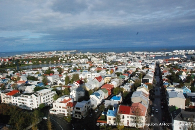 This is Rekjavik and the Atlantic
